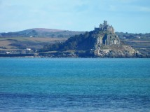 St Michael's Mount, linked by a causeway to Marazion when the tide's out.