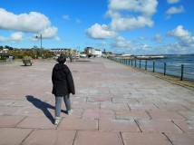 In Penzance, Marty walks along the only promenade in the whole of Cornwall.