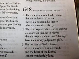 A favourite hymn