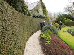 Volunteers help care for the vast gardens.