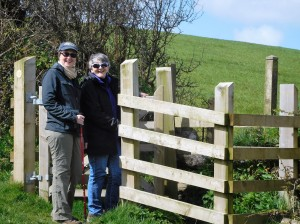 A new kissing gate on the ancient path.
