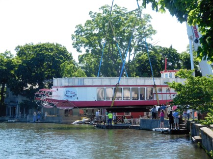 After six months of repairs, funded by the not-for-profit Save The Queen group, this fixture on the St Joseph River will tour again. Long live the Queen.