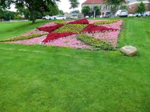 Elkhart City's quilt garden is one of many throughout the county that eschews weeds. O.K., weeds have their place, just not in a quilt garden.