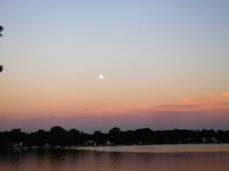 Nightfall over Oliver Lake.
