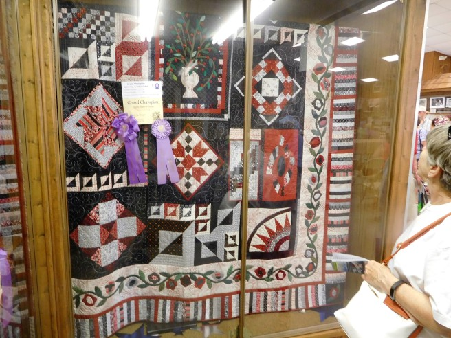Marie Troyer from our church took the Grand Champion prize in quilting.
