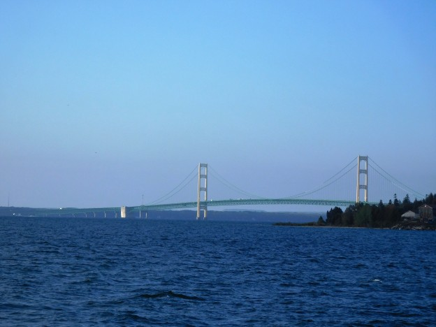 The five-mile-long bridge that links Michigan's Lower with its Upper Peninsula.