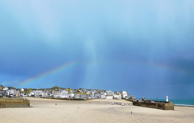 Bow over the Down-Along and Island sections of St Ives.